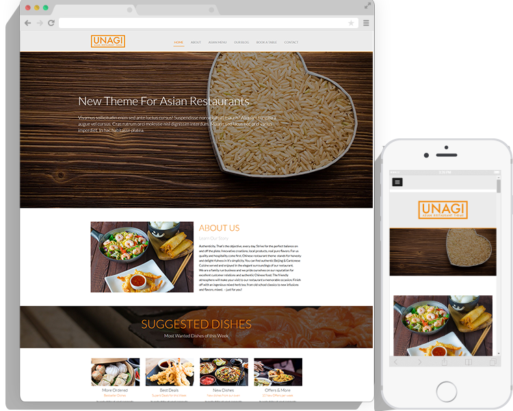 WordPress Chinese Restaurant Theme By Ketchup Themes - Restaurant template wordpress